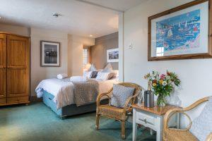 Bedroom Accommodation - Wheelhouse Mevagissey