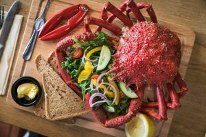 Seafood at the Wheelhouse Restaurant Mevagissey